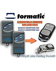 TORMATIC MHS43-2 NOVOTRON 302, MHS43-4 NOVOTRON 304 compatibele afstandsbediening vervangende zender, 433.92Mhz rollende code sleutelhanger