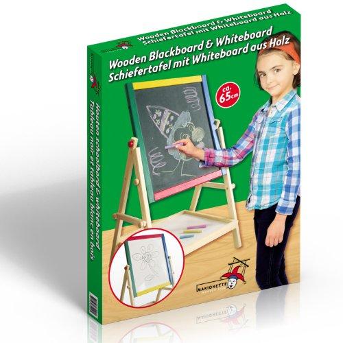 Marionnette Wooden Toys - 85499 - Loisir Créatif - Tableau Bois Réversible - Face Noir/ Face Blanc - 65 cm