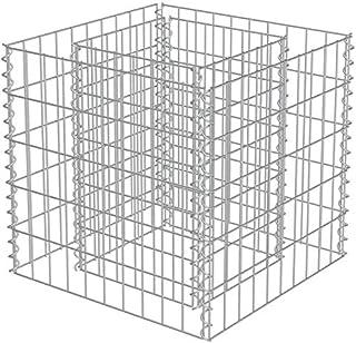 """RM Outdoor Garden Gabion Planter Stone Basket Galvanized Steel 19""""x19""""x19"""""""