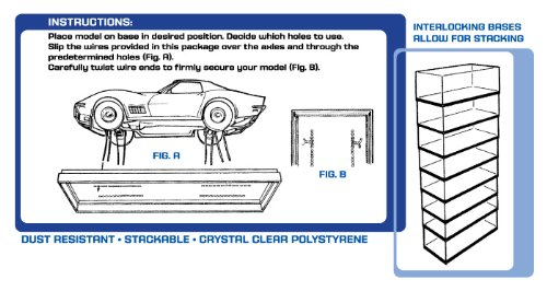 AMT Plastic Display Case, 9 3/4 x 4 1/4 x 3 11/16