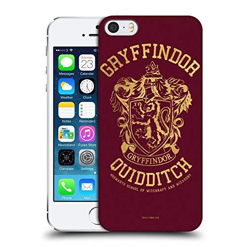 Head Case Designs Officiel Harry Potter Gryffindor Quidditch Deathly Hallows X Coque Dure pour l'arrière Compatible avec Apple iPhone 5 / iPhone 5s / iPhone Se 2016