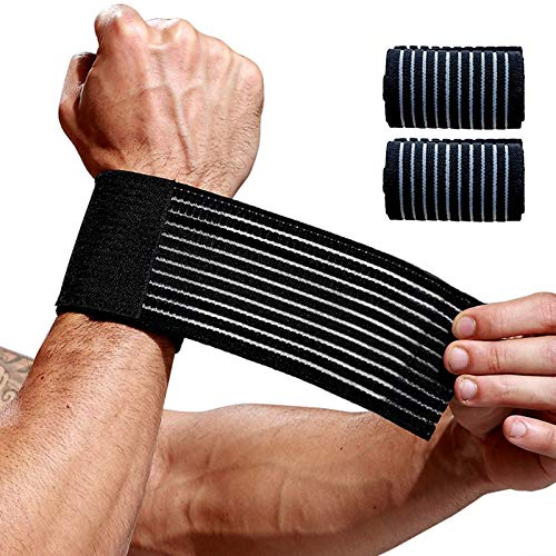 2 Pack Wrist Wraps for Working Out,Carpal Tunnel Wrist Brace,Arthritis Hand Support Bands,Lightweight Wristband for Men Women,Compression Band-Breathable Wristguard-for Tennis Golf Fitness