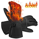 NEWXLT Winter Heated Gloves,Hand Warmers with 3 Levels Temperature Control,Battery Powered Hand...