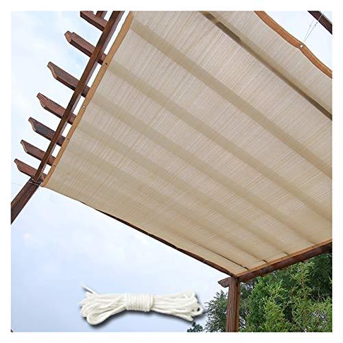 CAIJUN Sichtschutznetz Sonnensegel Draussen Sonnenschutz Pflanzenmarkise Atmungsaktiv Antialterung, Mit 5m Seil (Size : 2x5m)