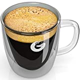 Coffee Gator Insulated Glass Mug - Hotter-For-Longer, Double-Walled Thermal Cup - Made With...