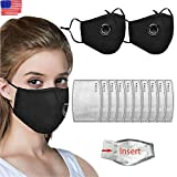 10 Pcs Activated Carbon Filter, Replaceable Anti Haze Dust Face Health Protection Mouth Cover Face Cover Mouth Muffle for Adults Black