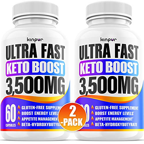 Powerful Keto Pills - Diet Pills for Metabolism, Energy, and Brain Support That Work for Men & Women - 2-Pack - Keto Bhb 120 Capsules - Effective Keto Supplement for Ketosis