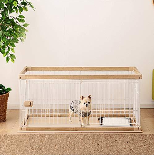 QNMM Heavy Duty Plegable Mascota Perro Cachorro Gato Ejercicio Valla Barrera Parque Infantil Perrera, Exterior e Interior