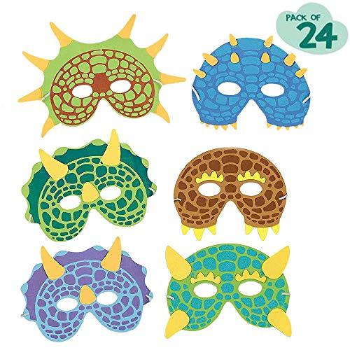 boogift 24 Stück Mascaras Superheroes Niños Dinosaurier-Fiestas mask Spielzeug Für Jungen und Mädchen Birthday Party Design Cosplay Value Kit Favores Decoraciones