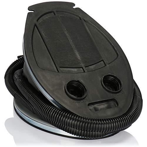 com-four Fußluftpumpe mit 2 Luft-Düsen, Luftpumpe mit 3 Liter Volumen, zum...