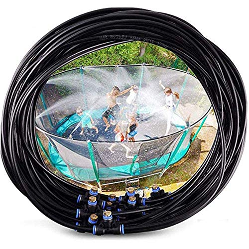 QSs-Ⓡ Trampoline Waterpark Heavy Duty Sprinkler Hose - Fun Summer Outdoor Water Game Toys Accessoires - Idéal pour Les garçons et Les Filles et Les Adultes (49,2 Pouces)