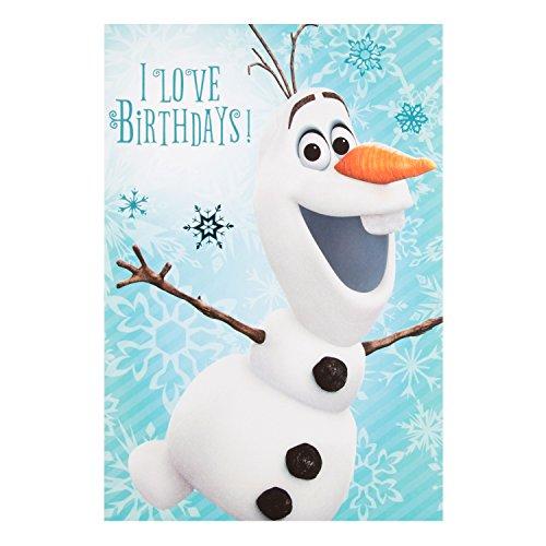 "Hallmark Frozen Geburtstagskarte ""Olaf""–Medium"