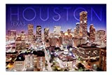 Promini Houston, Texas - Skyline at Night - 1000 Piece Jigsaw Puzzles for Adults Kids, Puzzles for Toddler Children Learning Educational Puzzles Toys for Boys and Girls 20' x 30'
