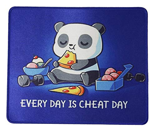 Cute Panda Mouse Pad 12x10 Inches Office Gaming Anime Eating Pizza Mousepad