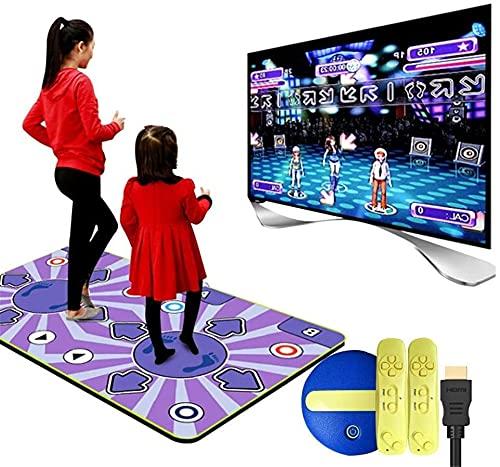 WSVULLD Estera de doble danza inalámbrica, interfaz de computadora de TV de doble uso de la máquina de danza somatosensorial de doble uso, almohadilla de baile plegable resistente al desgaste, calidad
