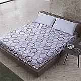 NHhuai Protector de colchón/Cubre colchón Acolchado de Fibra antiácaros, Transpirable, Impresión Impermeable y Colcha a Prueba de Polvo.