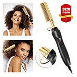 High Heat Ceramic Press Comb - Professional Electrical Straightening Comb