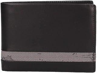 PORTAFOGLIO UOMO ALVIERO MARTINI PRIMA CLASSE ART. BVW1435400 in pelle nero con inserto geo grigio.