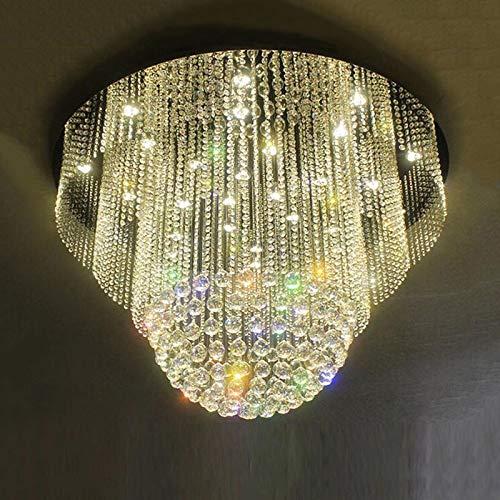 Große runde moderne K9 LED Kronleuchter Luxus Kristall Beleuchtung Glanz Hotel Lobby Kronleuchter Durchmesser 80/100 cm
