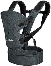 JooBebe Babybärare 4-i-1, bomull, ergonomisk och bekväm anpassad till ditt barns odling, för nyfödda och småbarn 4 till 30 månader (3,6 kg - 15 kg)