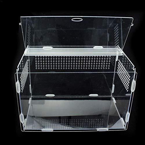 AIHOME - Scatola per allevamento di rettili in acrilico trasparente - per alimenti vivi e insetti, per ragni, grilli e lumache, granchi eremiti, tarantole, gechi