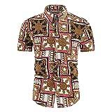 Playa Shirt Hombre Verano Ajustado Moderno Hombre Deportiva Camisa Moda Estampado Manga Corta Shirt Botón Placket Casuales Camisa Vacaciones Secado Rápido Hawaii Camisa K-11 3XL