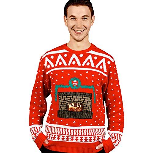 Morph Costume Co - Maglione in stile natalizio, da uomo, taglia S, rosso