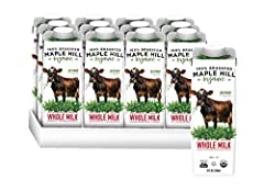 Shelf Stable: no refrigeration needed for Maple Hill grass-fed organic milk boxes Organic: 100% grass-fed organic milk - everything you love about organic milk and more! Sustainable: no straw, milk box packages can be recycled, Maple Hill 100% grass-...
