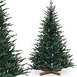 Urhome Árbol de Navidad artificial con soporte, abeto Nordmann, 220 cm de alto, de PVC, de montaje rápido, sistema plegable para Navidad