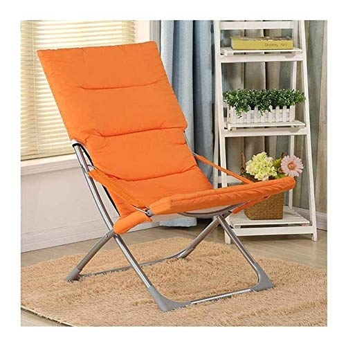 Sun Lounger Camping Chairs Garden Daybeds Deck Chair Chaise Longue Folding Office Chair Lazy Chair Portable Outdoor Garden Daybed (Color : Orange)