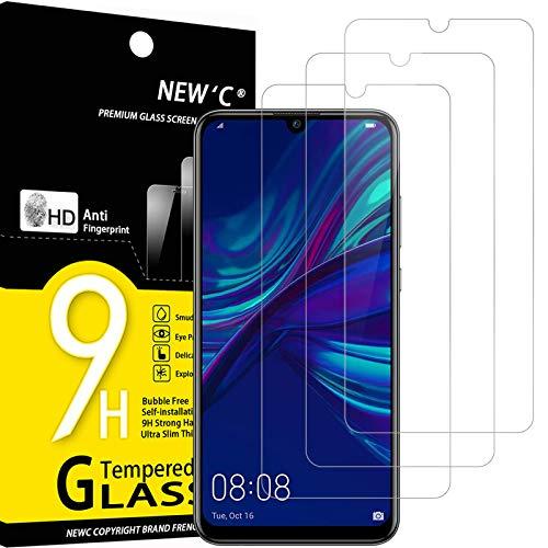 NEW'C 3 Pezzi, Vetro Temperato Compatibile con Huawei P Smart Plus 2019, Enjoy 9s, Pellicola Prottetiva Anti Graffio, Anti-Impronte, Durezza 9H, 0,33mm Ultra Trasparente, Ultra Resistente