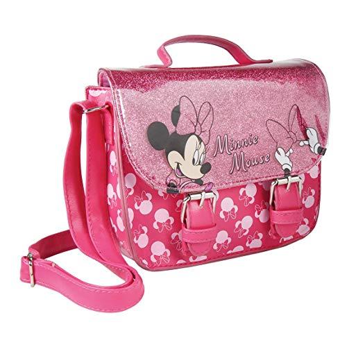 Cerdá, Bolso Bandolera Polipiel de Minnie Mouse para Niñas, Rosa Claro, Pequeño