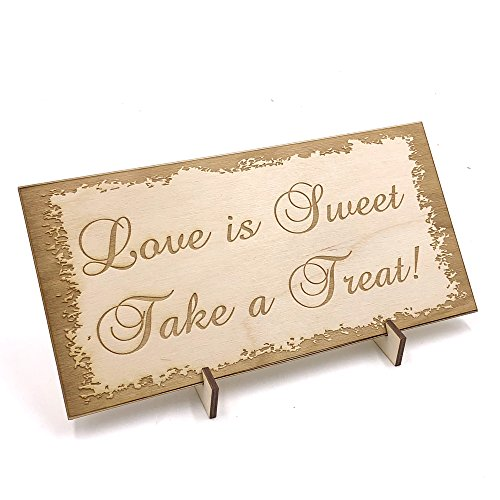 Wooden Wedding signs Plaques, Sweet Table Candy Bar Take a Treat