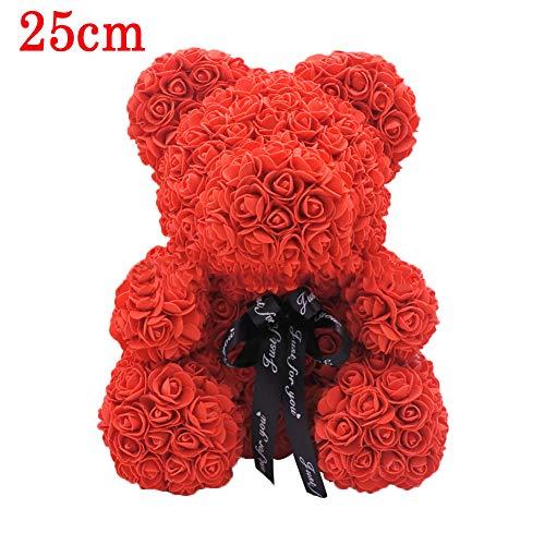 Dedeka Osito Rosa con Cinta, decoración Artificial de la Flor del Oso