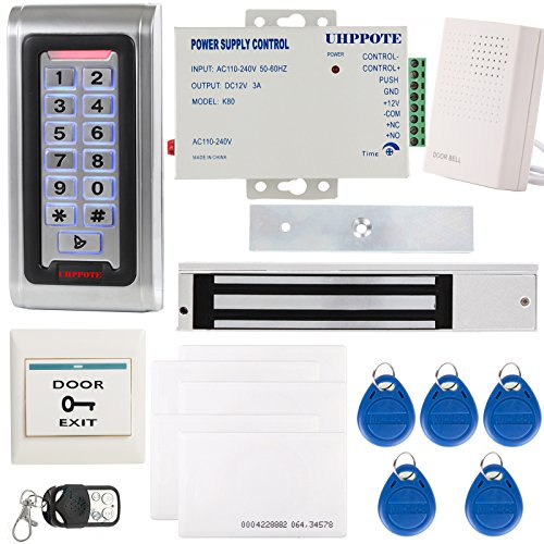 UHPPOTE Outswinging Door RFID Access Control System Keypad ID Card & 280Kg Magnetic Lock - Electromagnetic Lock with UL-certified