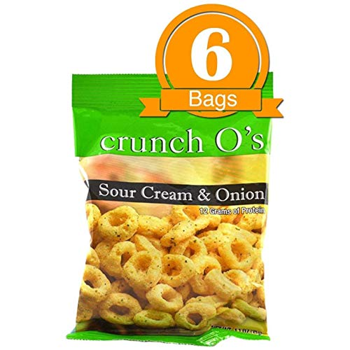 Doctors Best Weight Loss - High Protein Diet Snack |Sour Cream Crunch O's|Low Calorie, Low Sugar, Medical Grade (7/Bags)