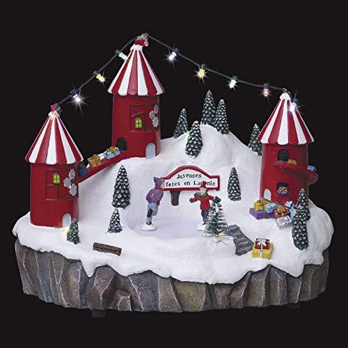 FEERIC CHRISTMAS – Villaggio di Natale luminoso e musicale, patinato, nero animato