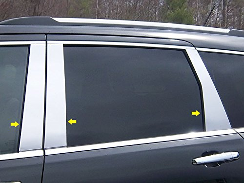 Price comparison product image QAA fits 2011-2020 Jeep Grand Cherokee 6 Piece Stainless Pillar Post Trim PP51081
