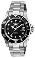 Black dial, Stainless steel band 40mm stainless steel case;Push/pull crown;Flame Fusion crystal 200 meter water resistant