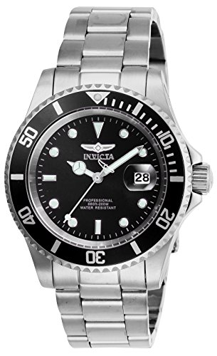 Invicta Men's Pro Diver Quartz Watch with Stainless Steel Strap, Silver, 20...