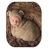 Dalai Baby Fotografie Requisiten für Jungen Mädchen Häkelkostüm Outfits niedliche Mütze Schlafsack Gr. Einheitsgröße, Khaki