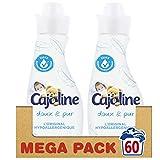 Cajoline Adoucissant Concentré Doux Pur Hypoallergénique 750ml (Lot de 2)