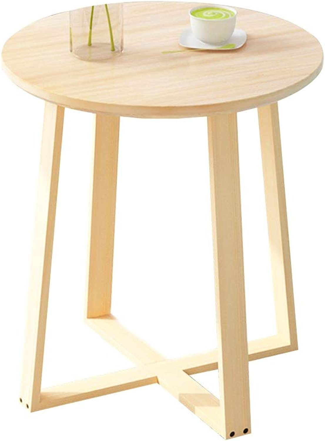 Coffee Table Side Table, Multipurpose Mobile Snack Table Small Apartment Mini Small Coffee Table Household Living Room Small Round Table (Size   40  40  50cm)