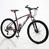 Bicicleta de montaña de Velocidad Trasera al Aire Libre, Freno de Disco Doble, suspensión Completa, Bicicleta de montaña, absorción de Impactos, Freno de Aceite, Freno de Disco de Bicicleta de Monta
