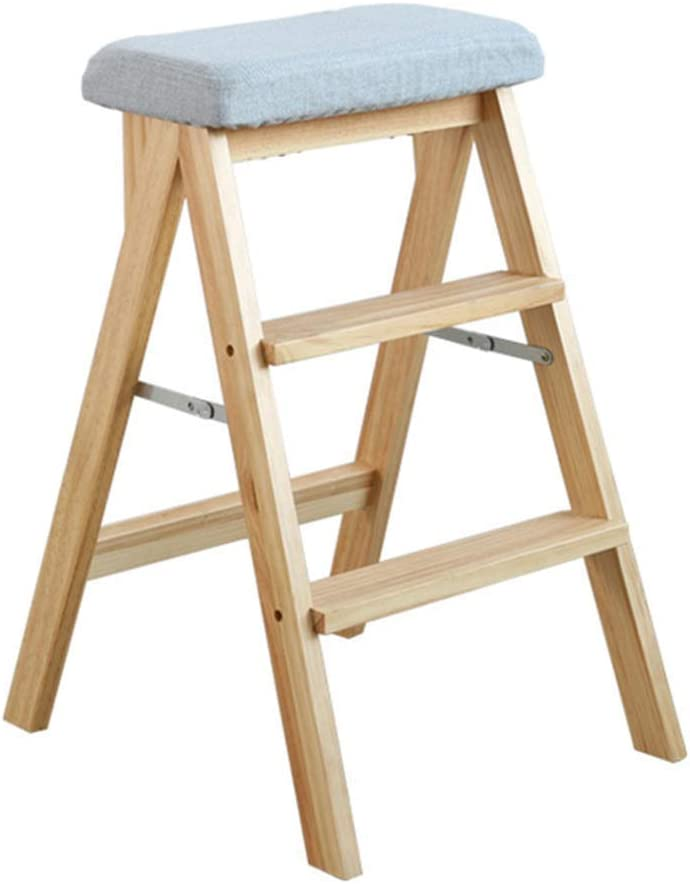 SHSM Step Stool for Adults Dealing full price reduction Multifunction Solid Ladder Max 76% OFF Wood