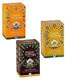 Tienda de té inglés Colección de té negro: 1 x Ceilán, 1 x Earl Grey Vainilla, 1 x Sabor a limón - 3 x 20 Bolsitas de té (120 gramos)