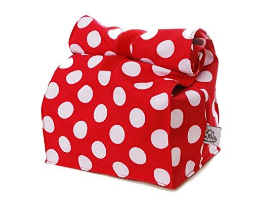 Lunchbag von wishproject® - mit Klettverschluss zum Aufrollen * auch super geeignet als Kosmetiktasche