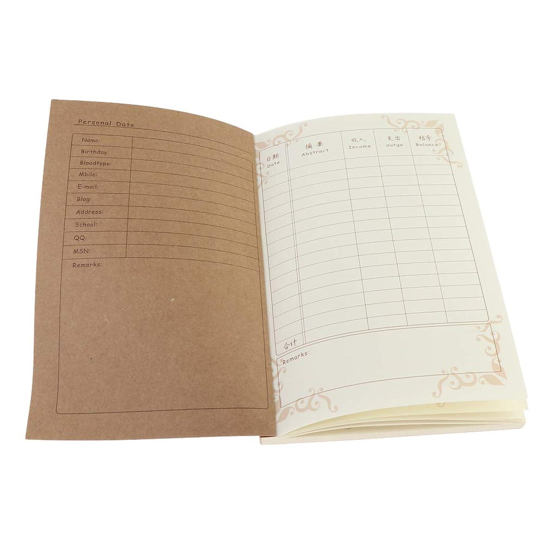 シャーロックホームズ現在創始者簿記 会計簿 ノート A5 PUレザーカバー 罫線 200ページ 学生 支払分 記録