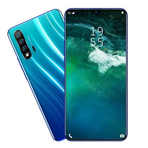 LVHC Nowa6 Pro Smartphone ohne Vertrag, 6,3 Zoll FHD+ Display, 4800mAh Akku, 13MP+18MP Kamera, 2GB RAM+16GB ROM, Dual SIM, Android 10, Bluetooth 5,0 Handy,Blau