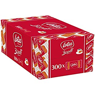 Lotus Biscoff Original Caramelised Single Biscuits (Pack of 300 - catering size):Superclub